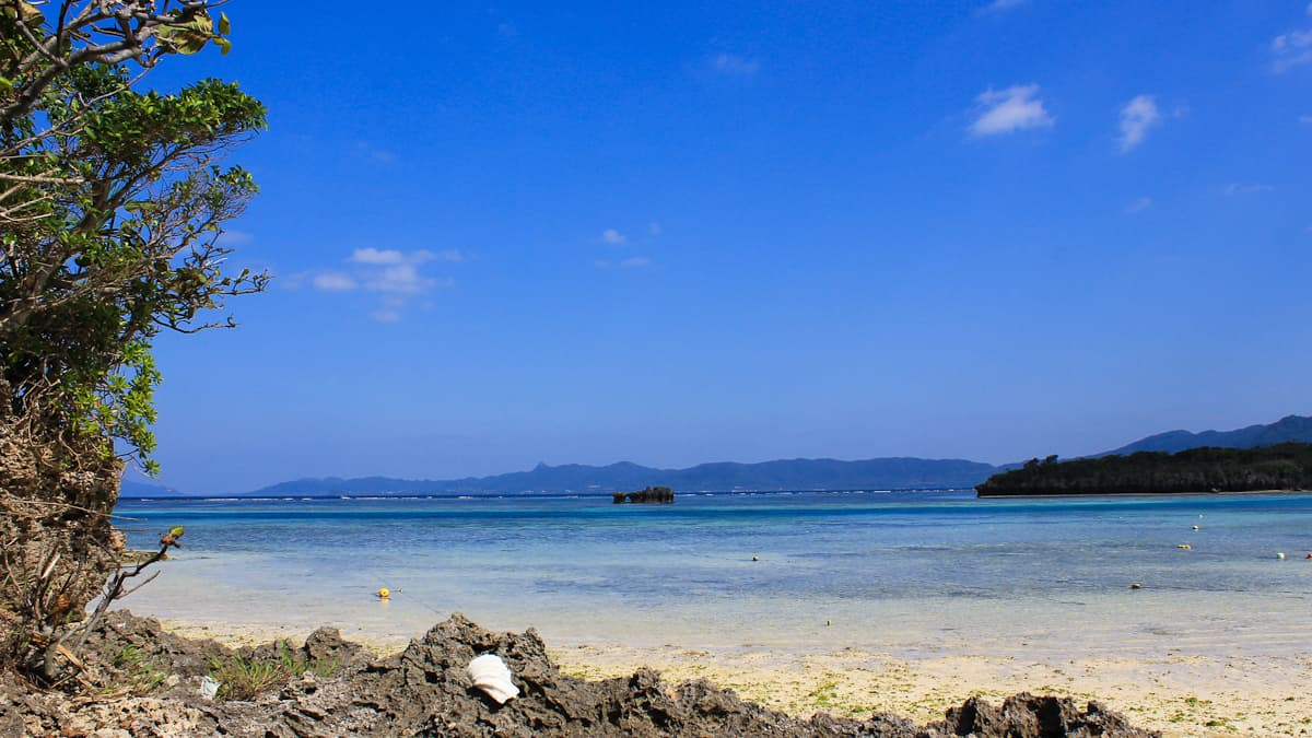 beach with clear blue sky in Ishigaki